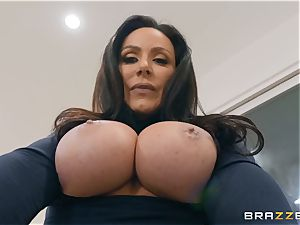 aged brown-haired hotty Kendra eagerness railing fuckpole