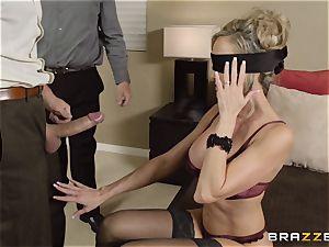 The spouse of Brandi enjoy lets her pummel a different boy