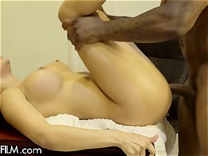 hotwife wifey Aaliyah Hadid enjoys Her Bosses big black cock