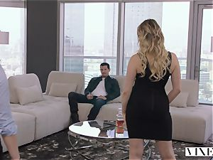 VIXEN kinky assistant Can't Hold Back Anymore In amazing threeway