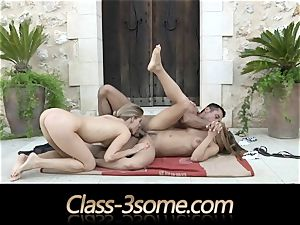 sultry penetrate with 2 delectable stunners