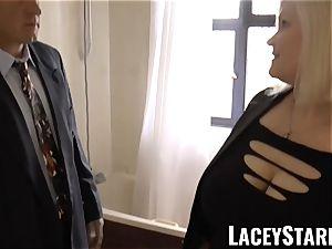LACEYSTARR - Mature English babe banged and facialized