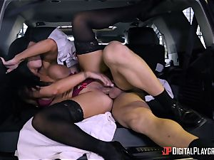 Romi Rain fucked in the back of the car
