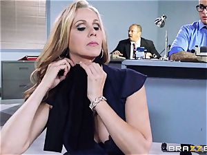 cool manager Julia Ann gets a double creaming