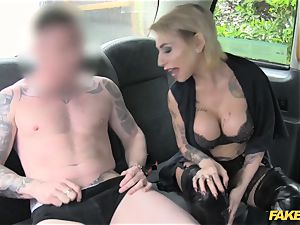 fake taxi puny lady in stunning undergarments