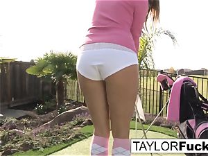 Taylor flashes you her meaty bra-stuffers