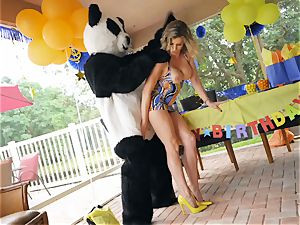 hung stud in panda costume pounds mummy Cory chase