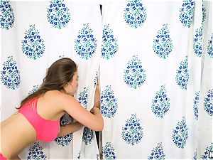 Behind the bathroom curtain with Lena Paul