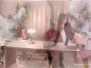 new lady Stephani Moretti crammed with jism at work
