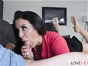 LoveHerFeet - Stepson penetrates His Stepmom On The sofa