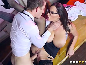 Lusty schoolgirl Ella Hughes and her buxomy instructor sensual Jane need your immense hard pink cigar