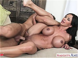 scorching mommy pearls Jade takes his gigantic swelling for a ride