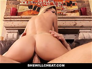 cheating husband watches Wifes poon Get demolished