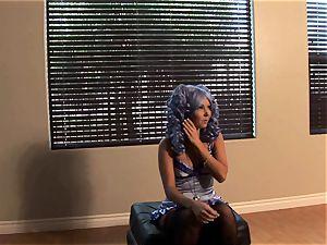 Aaliyah love blue hair behind-the-scenes photoshoot