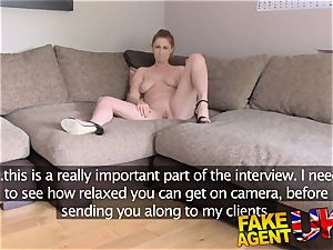 FakeAgentUK finger porking bootie licking and cum drenched