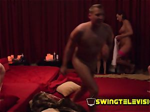 Bearded hubby parties firm at the swingers limousine