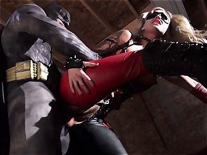Kleio Valentien gives dirty blowjob to a superhero