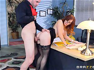 Dani Jensen frolicking with boner in the office