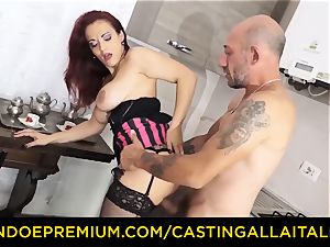 audition ALLA ITALIANA - big-titted novice goes for rectal fucky-fucky