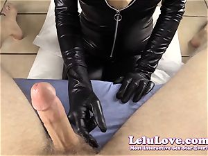 teasing and deepthroating YOUR weenie in my catsuit