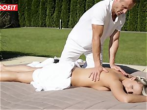 naughty Housewife Gets smashed by Her rubdown Therapist