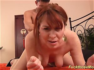 ginger-haired stepmom need a powerful pink cigar