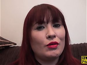 huge-titted brit sandy-haired dominated with roughsex