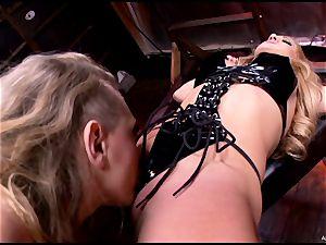super-steamy Kagney Karter tortures a roped up Amy Brooke