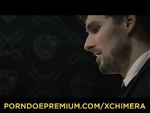 XCHIMERA - Office babe practices sensuous desire plumb