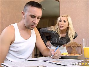 Ungrateful wifey Ashley Fires gets a mean ravage from her boy