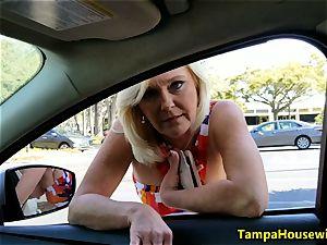 Parking pile blow-job with Ms Paris Rose