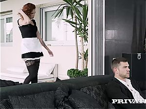 Private.com ginger-haired maid thirsty for jizm