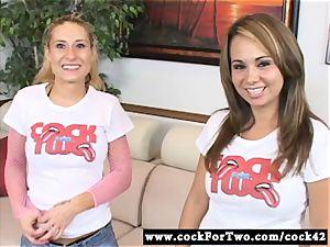 Holly West vs Rebecca Steel - jizz-shotgun sucking Competition
