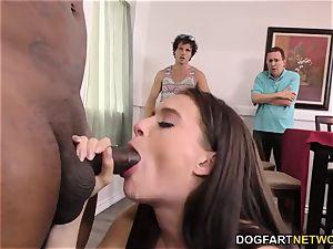 hotwife brutha and parent watch Lana Rhoades takes big black cock