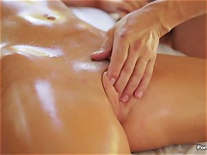splendid massage ends in gonzo penetrate with Alexis Adams
