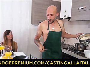 audition ALLA ITALIANA - warm Italian minx gets deep ass-fuck