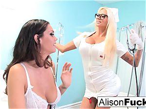 freaky Nurse Nikita tries to heal Alison