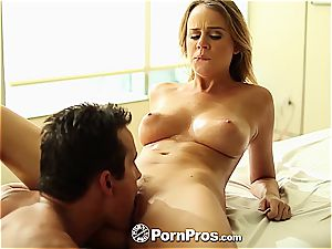 Alexis Adams uses her forms and cooch