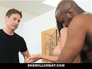 SheWillCheat - warm wifey With big Rack enjoys dark-hued boner