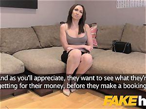 fake Agent UK thick bumpers Yasmin Scott slurps agents spunk