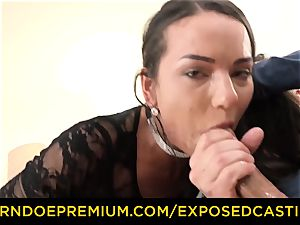 unveiled audition - beautiful dark haired has gonzo anal fuck-fest