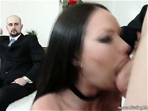 Exotic Swinger wife plumbs Another boy