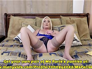 Ms Paris demonstrates Her Sold ManyVids thong prep
