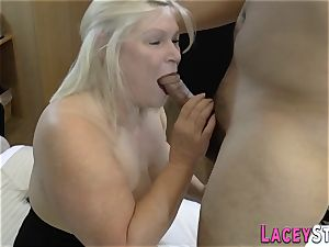 huge-titted british granny poked