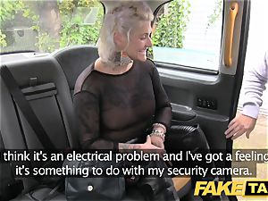 faux taxi platinum-blonde cougar gets surprise buttfuck fucky-fucky