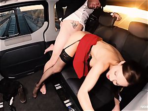 penetrated IN TRAFFIC - brit Tina Kay fucked in the car