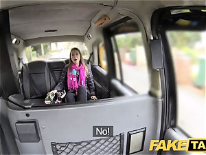 faux cab european chick screwed with rock stiff weenie facial