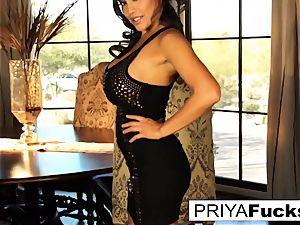 Dining room fun with handsome Priya Rai