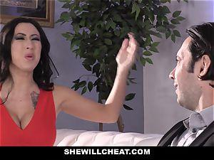 SheWillCheat - mega-bitch wife bootie humped by friend