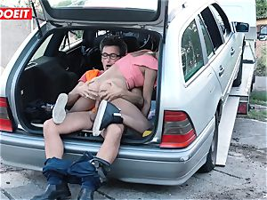 buxomy Latina Francys Belle gets fucked outdoors